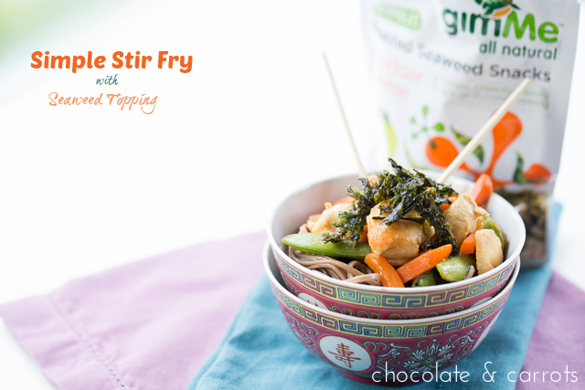 Simple Stir Fry with Seaweed Topping | chocolateandcarrots.com