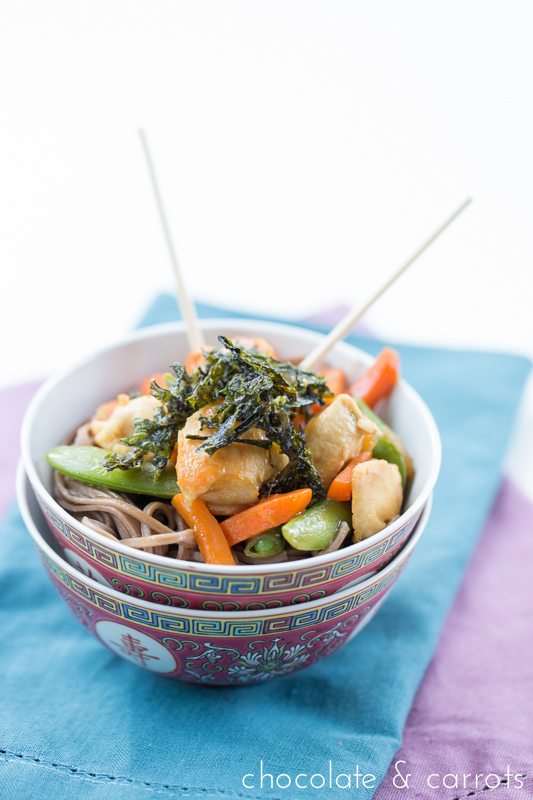 Simple Stir Fry with seaweed| chocolateandcarrots.com