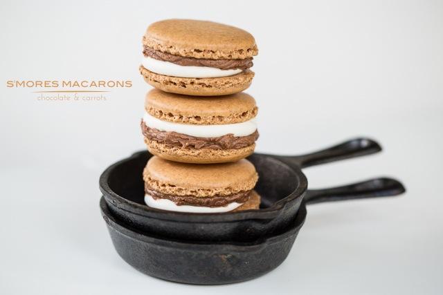 S'mores Macarons | chocolateandcarrots.com