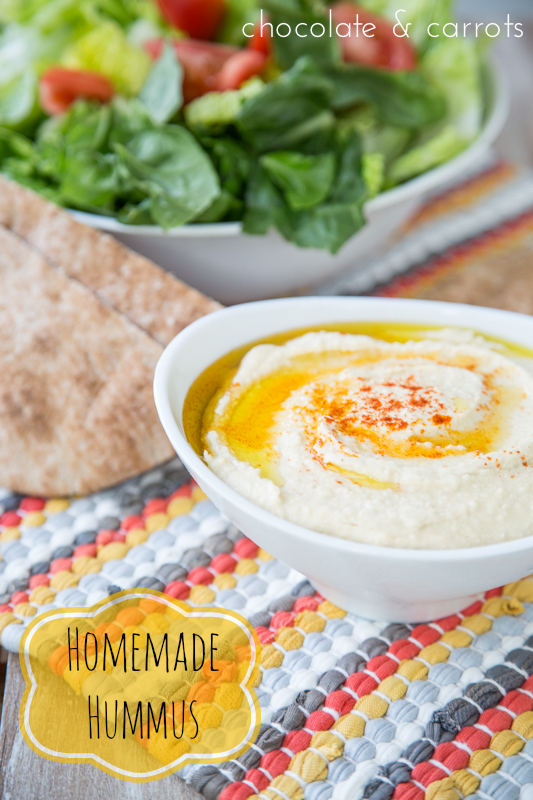 Homemade Hummus | chocolateandcarrots.com