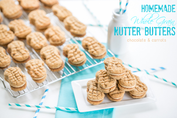 Homemade Whole Grain Nutter Butters | chocolateandcarrots.com
