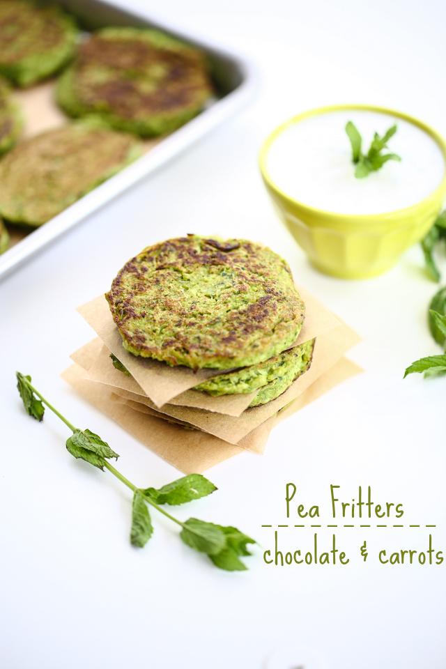 Pea Fritters | chocolateandcarrots.com