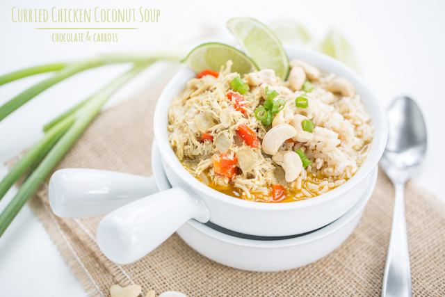 Curried Chicken Coconut Soup | chocolateandcarrots.com