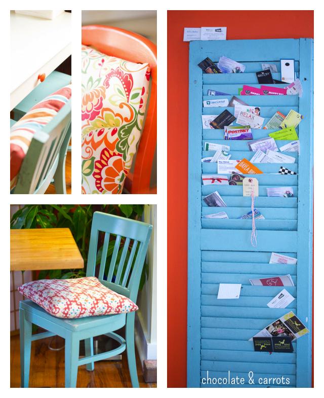 The Orange Spot Coffeehouse Details | chocolateandcarrots.com