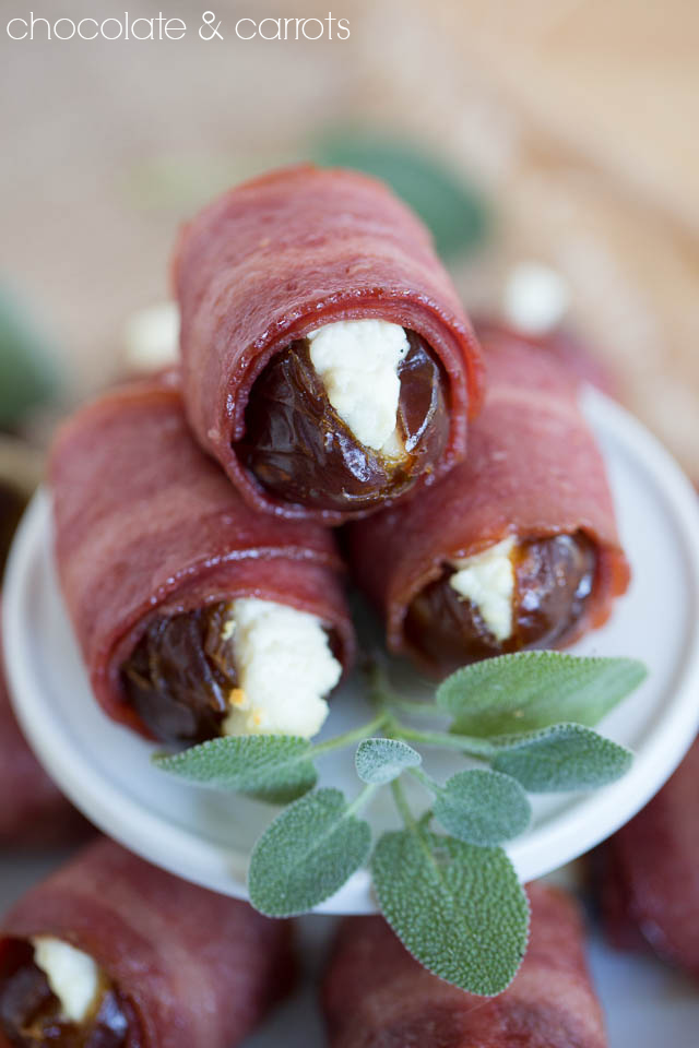 Bacon Wrapped Dates | chocolateandcarrots.com