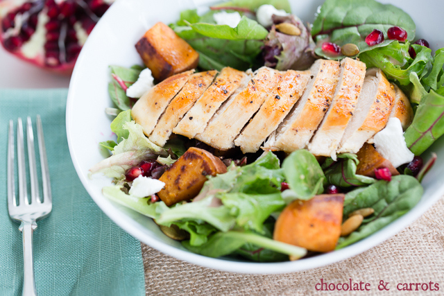 Autumn Chicken Salad | chocolateandcarrots.com