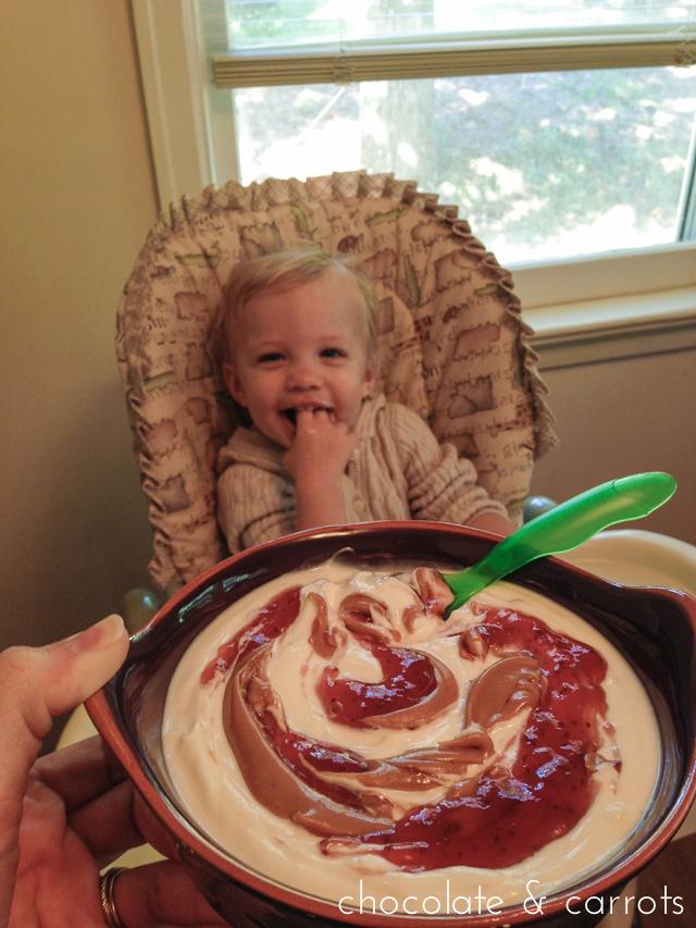 Liam eating yogurt-06