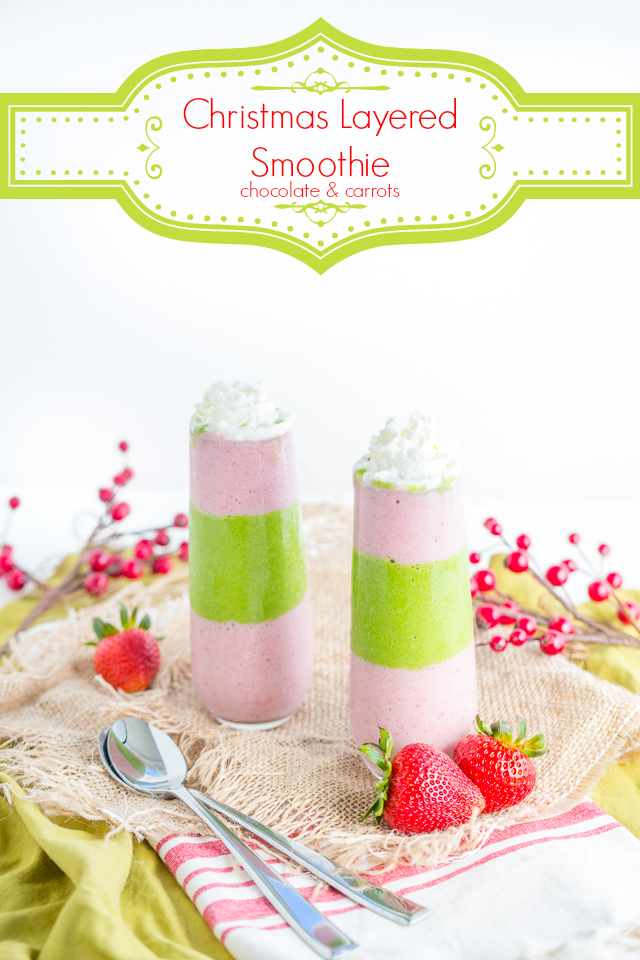 Christmas Layered Smoothie | chocolateandcarrots.com