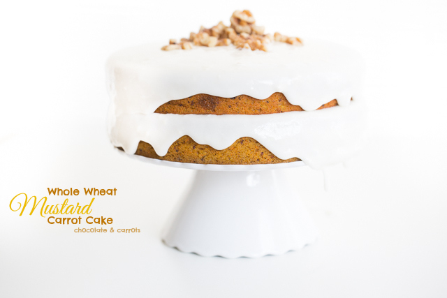 Whole Wheat Mustard Carrot Cake | chocolateandcarrots.com