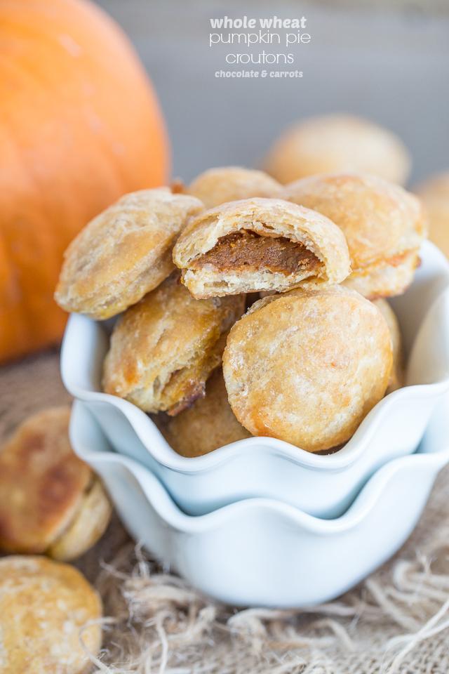 Pumpkin Pie Croutons | chocolateandcarrots.com