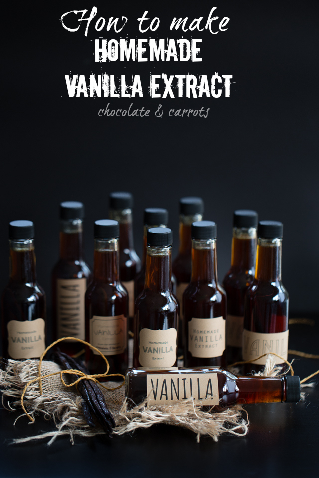 How to Make Homemade Vanilla Extract | chocolateandcarrots.com