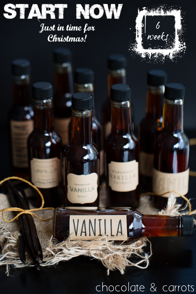 Make Homemade Vanilla Extract for Christmas | chocolateandcarrots.com