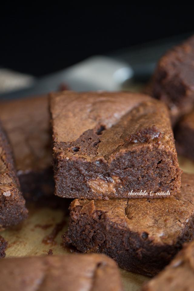 Whole Wheat Hershey's Kiss Caramel Brownies | chocolateandcarrots.com