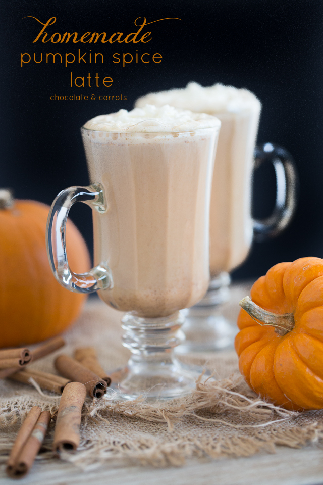 Homemade Pumpkin Spice Latte | chocolateandcarrots.com