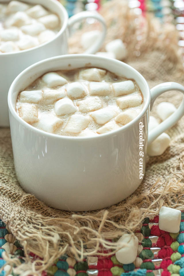 Homemade Hot Cocoa for Two | chocolateandcarrots.com