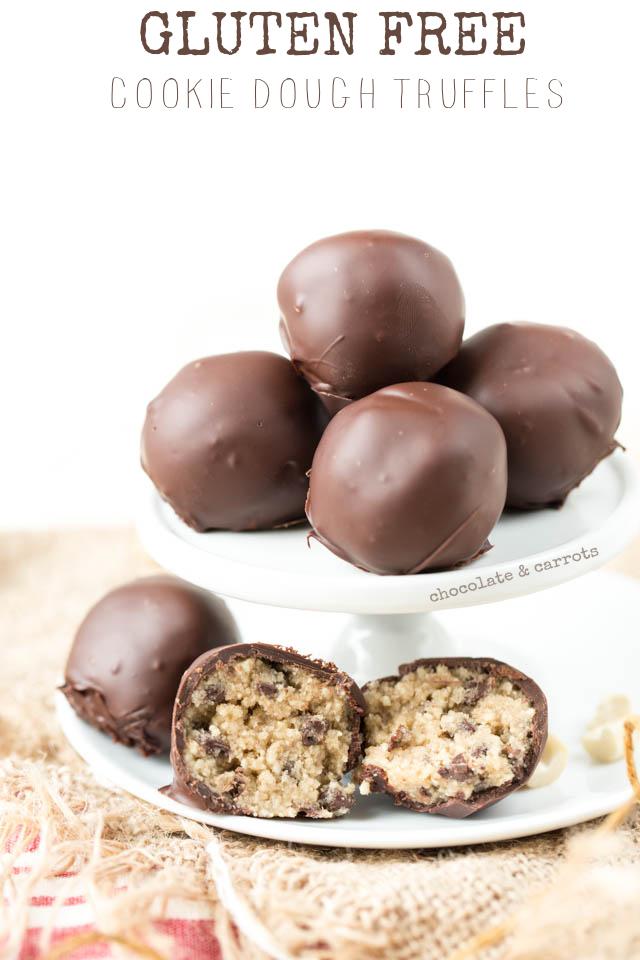 Gluten Free Cookie Dough Truffles | chocolateandcarrots