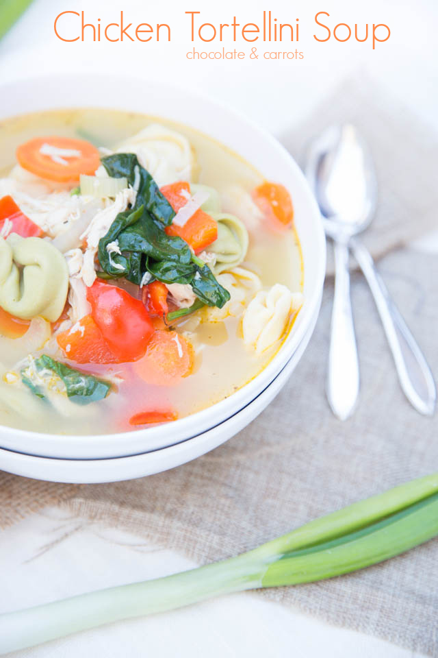 Chicken Tortellini Soup | chocolateandcarrots.com