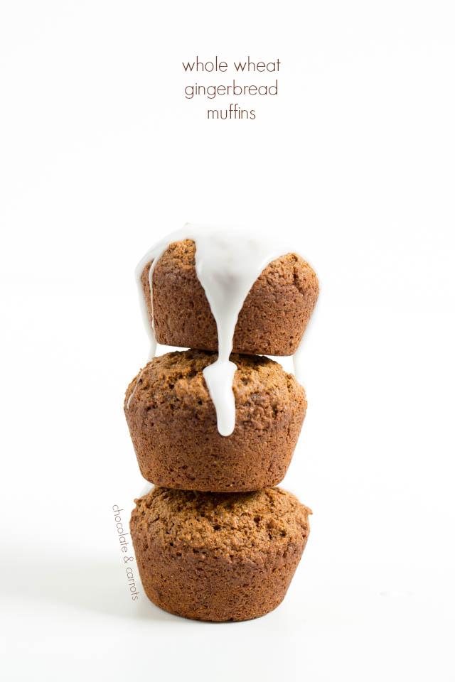 Whole Wheat Gingerbread Muffins | chocolateandcarrots.com