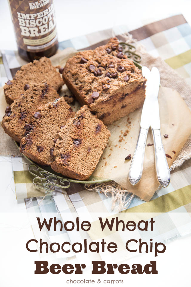Whole Wheat Chocolate Chip Beer Bread | chocolateandcarrots.com