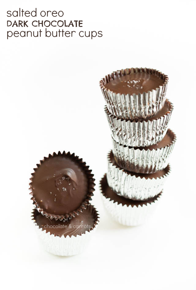 Salted Oreo Peanut Butter Cups | chocolateandcarrots.com