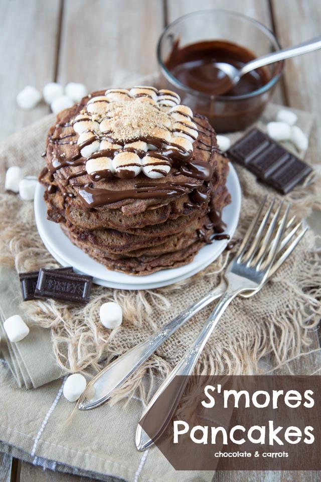 S'mores Pancakes | chocolateandcarrots.com
