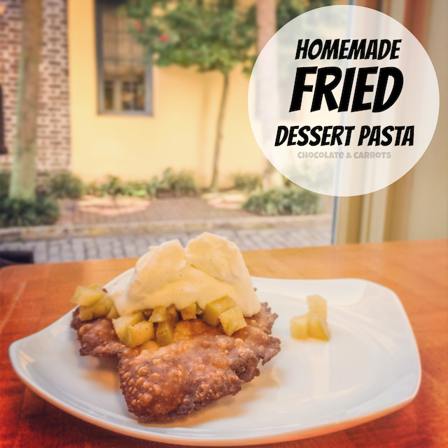 Homemade Fried Dessert Pasta | chocolateandcarrots.com