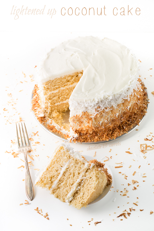 Lightened Up Coconut Cake | chocolateandcarrots.com