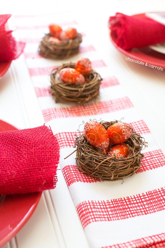 Simple Easter Tablescape | chocolateandcarrots.com
