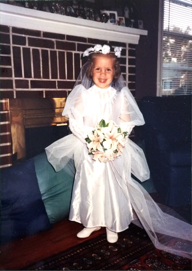 Caroline in a Wedding Dress