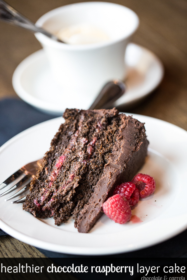 Healthier Chocolate Raspberry Cake | chocolateandcarrots.com