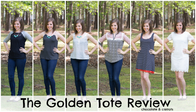The Golden Tote #Review #fashion #box | chocolateandcarrots.com