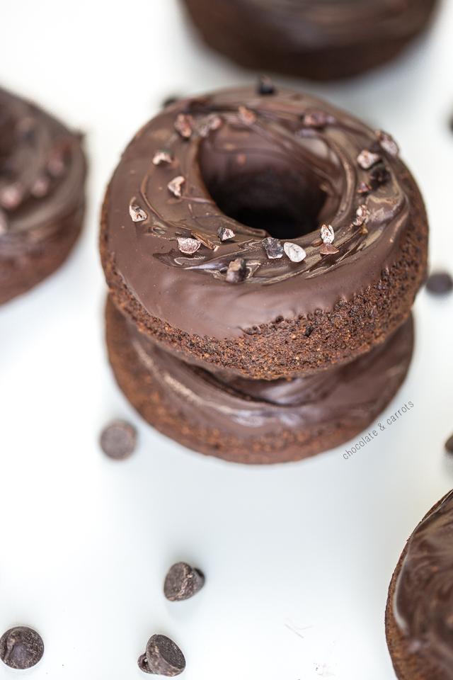 Vegan Chocolate Donuts | chocolateandcarrots.com