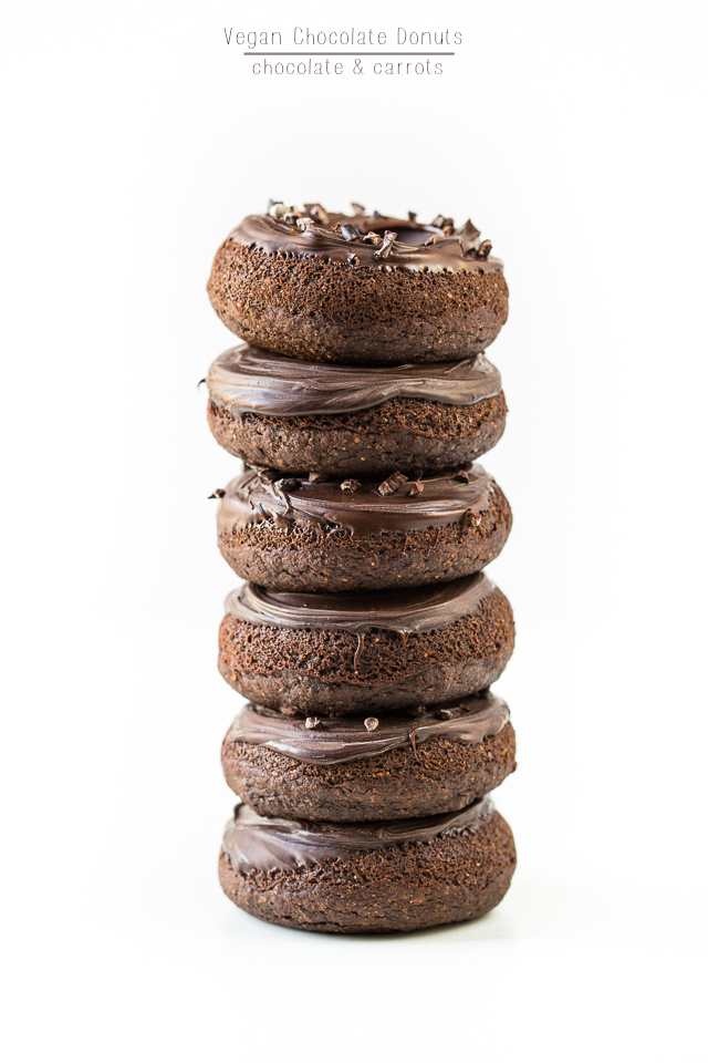 Vegan Chocolate Donuts | chocolateandcarrots.com