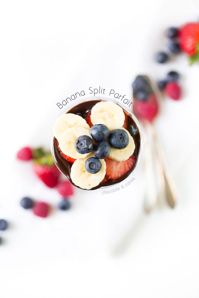 Banana Split Parfait   chocolateandcarrots.com