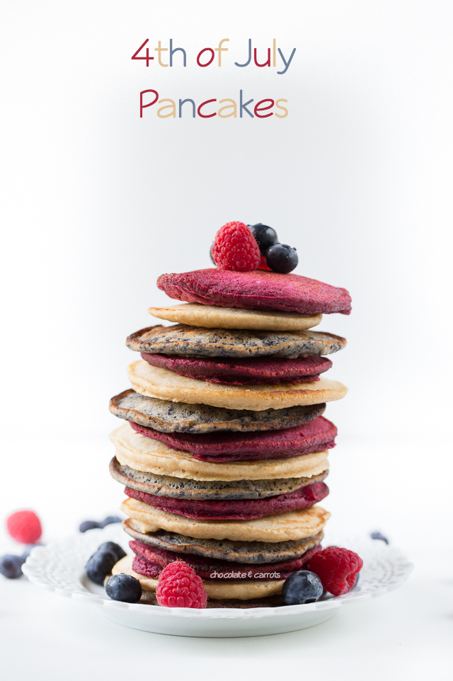 4th of July Pancakes | chocolateandcarrots.com