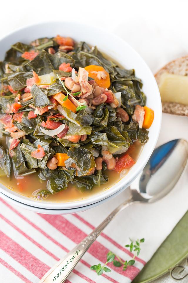 Healthier Southern Collard Soup | chocolateandcarrots.com