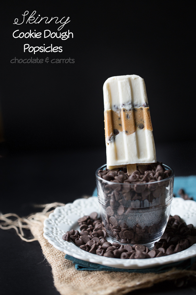 Skinny Cookie Dough Popsicles | chocolateandcarrots.com