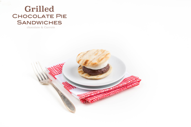 Grilled Chocolate Pie Sandwiches | chocolateandcarrots.com #fathersday