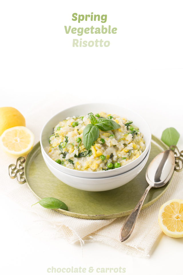 Spring Vegetable Risotto | chocolateandcarrots.com