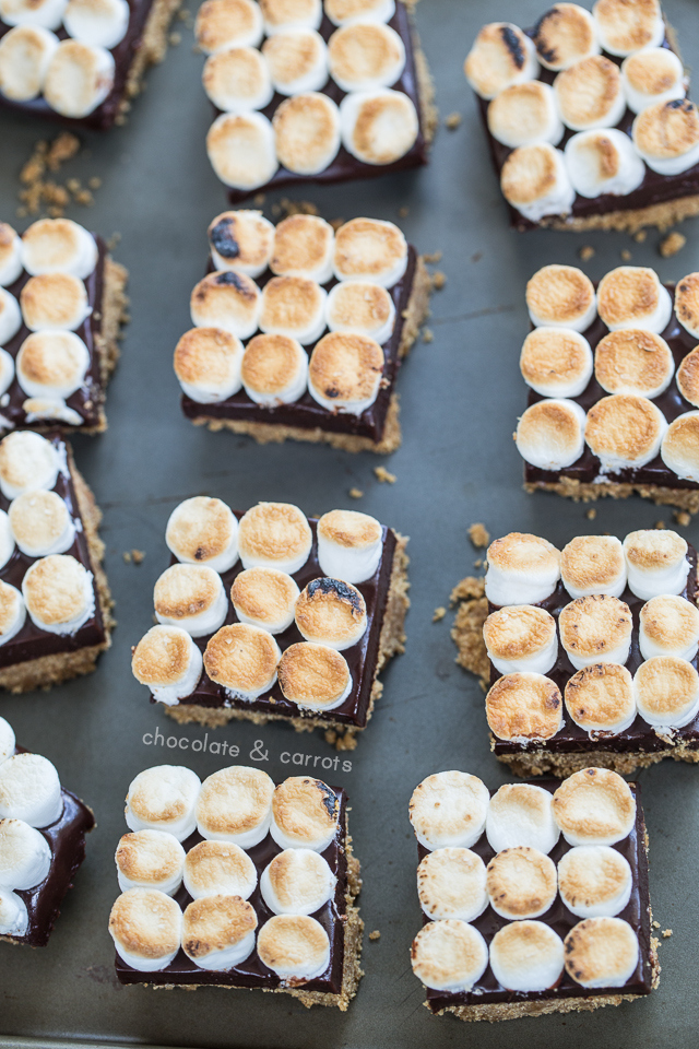 No-Bake S'mores Bars | chocolateandcarrots.com