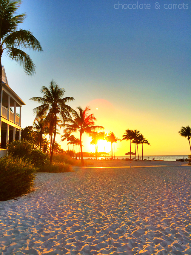 Tranquility Bay Beach Resort Sunset | chocolateandcarrots.com