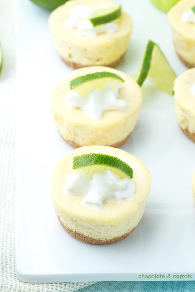 Mini Lime Cheesecakes   chocolateandcarrots.com