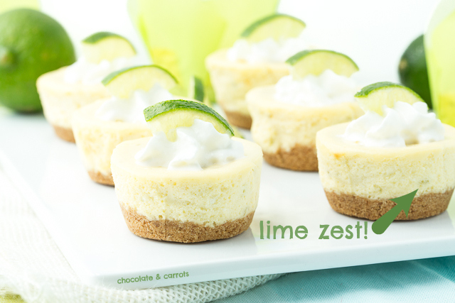 Mini Lime Cheesecakes | chocolateandcarrots.com