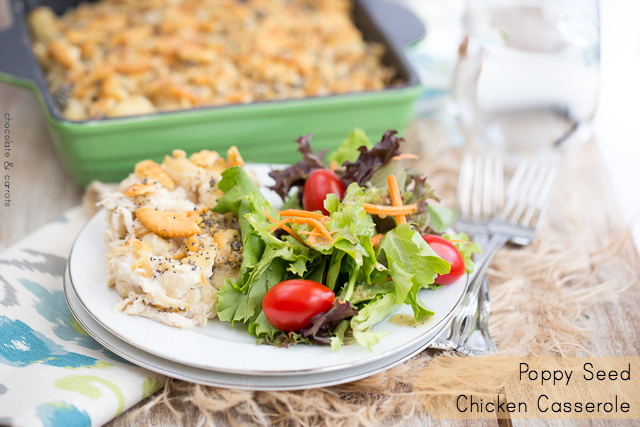 Poppy Seed Chicken Casserole | chocolateandcarrots.com