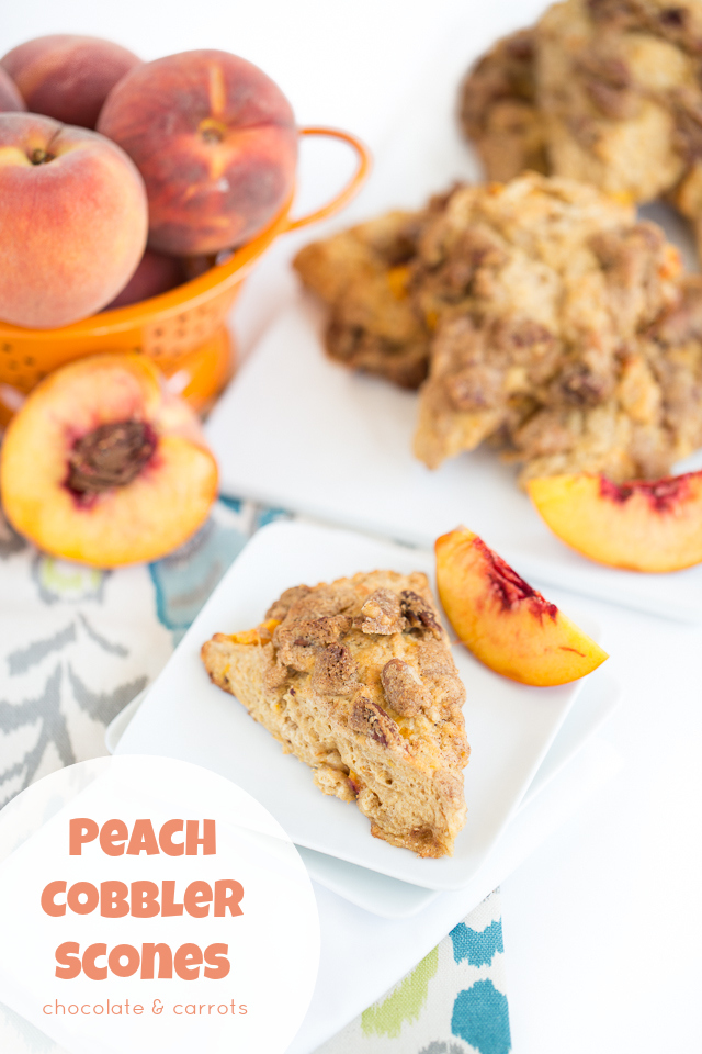 Peach Cobbler Scones | chocolateandcarrots.com