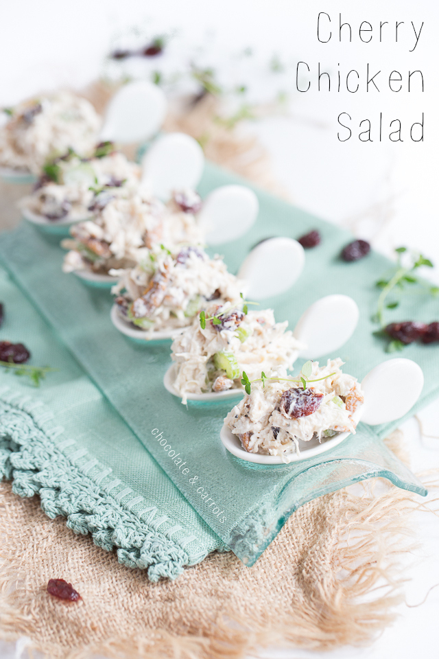 Cherry Chicken Salad | chocolateandcarrots.com