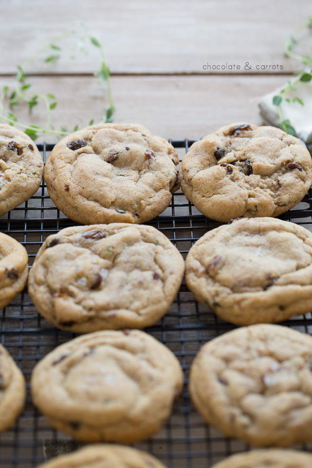 Salted Thyme & Raisin Cookies | chocolateandcarrots.com