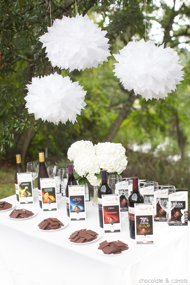 Chocolate and Wine Pairing Party | chocolateandcarrots.com
