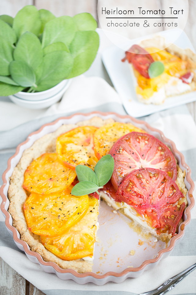 Heirloom Tomato Tart | chocolateandcarrots.com
