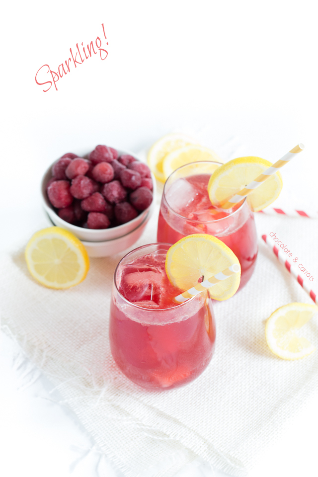 Sparkling Cherry Lemonade | chocolateandcarrots.com